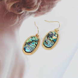 Mexican Abalone Shells Australia - Fashion Abalone Shell Necklace Earrings Jewelry Sets Geometric Hexagon Pendant Necklace Kendra Scott Jewelry For Women