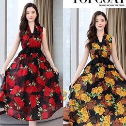 floral print bridesmaids dresses Canada - Floral Print Black Bridesmaid Dresses Long Ever Pretty A-Line V-Neck Sleeveless Wedding Guest Sukienki Na Wesele 2020 Show thin