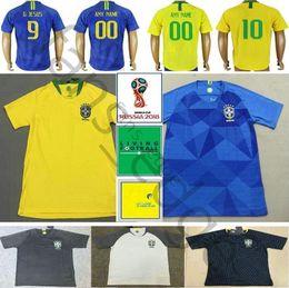 $enCountryForm.capitalKeyWord Australia - 2018 World Cup Soccer Jerseys 10 PELE RONALDINHO G.JESUS WILLIAN MARCELO COUTONHO PAULINHO CASEMIRO Custom Football Shirt