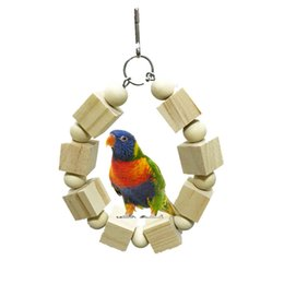 Bird Blocks Australia - Middle And Small Size Parrot Raw Wood Building Block Gnaw Toys Bird Toys Rings Swing Scaling Ladder Foreign Trade Expert For
