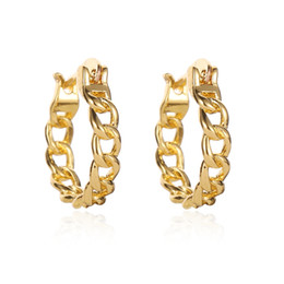 Silver loop chainS online shopping - Chain Circle Hoop Earrings For Women Men Gold Silver Color Hollow Round Loop Earring Small Ear Jewelry