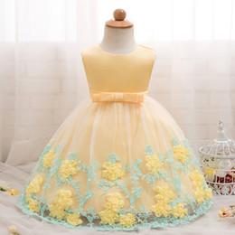$enCountryForm.capitalKeyWord Australia - Summer Baby Dress Girl Flower Wedding Gown 1 Year Birthday Party Dress Kids Vestidos 3 6 9 10 12 18 24 Months Baptism Clothes