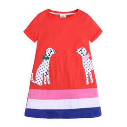 $enCountryForm.capitalKeyWord Australia - Kids Dress Little Girls Short Sleeve Dress Casual Cotton Summer T-Shirt Dresses 0-6Years Free shipping