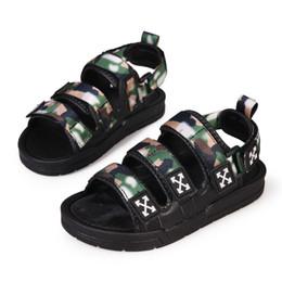 Crochet Beach Sandals Australia - New Fashion Big Boys Camouflage Sandals Children Summer Casual Sandals Kids Beach Sandals Size 30-41