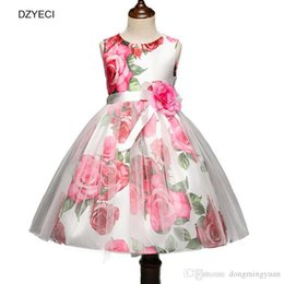 Babies Cotton Frocks Australia - Bridesmaid Dresses For Baby Girl Floral Costume Fashion Children Flower Bow Lace Party Princess Frock Kid Print Ceremony Clothes