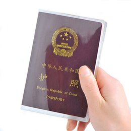 $enCountryForm.capitalKeyWord NZ - Transparent Plastic Passport Cover For Women And Men Waterproof Covers On The Passports Durable Travel Passport Case Pass Holder