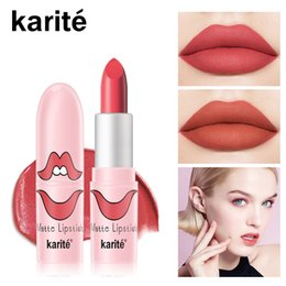 $enCountryForm.capitalKeyWord Canada - Matte Velvet Lipstick Waterproof Sexy Lip stick Long Lasting Non Sticky Cup Matte makeup Lipstick For Beauty Cosmetic