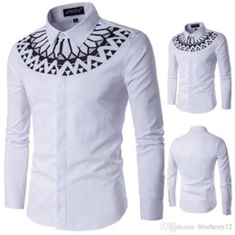 $enCountryForm.capitalKeyWord Australia - Large Size Mens Long Sleeve Shirts Slim Fit White Shirt Printed Male Dress Shirts M - 4XL