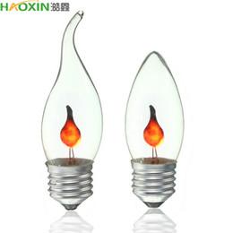 Lâmpada de efeito de chama de Haoxin LED E27 E14 Lâmpada de luz de vela de Edison Lâmpada de fogo de iluminação antiga ampola de 220V LED levou para decoração caseira em Promoção
