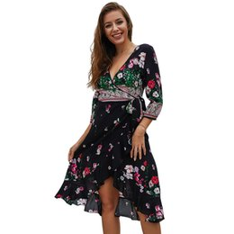 Green line products online shopping - 19Design Cross Border New Product Amazon Fast Selling Best Sellers Middle Length Paragraph Dress