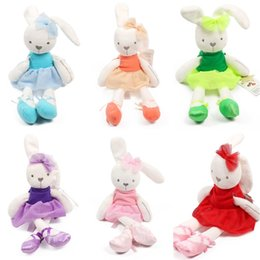 BaBy Bedding for cots online shopping - Lovely Bunny Plush Toys Soft Rabbit Stuffed Animals Dolls For Kids Baby Cot Bedding Appease Gift