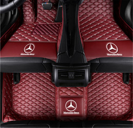 $enCountryForm.capitalKeyWord UK - Custom Car Floor Mats Fit for Mercedes Benz S Class Seden 4-Seat 2014-2019 Full Coverage All Weather Protection Waterproof Non-Slip Leather