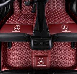 Опт Изготовленный на заказ половые коврики автомобиля, пригодный для Mercedes Benz класса S Седен 4-сиденье 2014-2019 полный охват всех защиты от непогоды водонепроницаемый нескользящей кожи