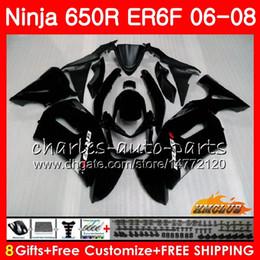 $enCountryForm.capitalKeyWord Canada - Body For KAWASAKI NINJA 650R ER6 F ER-6F 2006 2007 2008 Cowling 29HC.16 Ninja650R 650 R ER6F 06 matte black 08 ER 6F 06 07 08 Fairing Kit