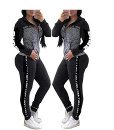28b3bd5890 Letter Pink Women Victoria Sports Suit Pants Hoodies Set Hooded Long Sleeve  Zipper Sweater Sweatshirt Leggings Secret Tracksuit V S Fashion