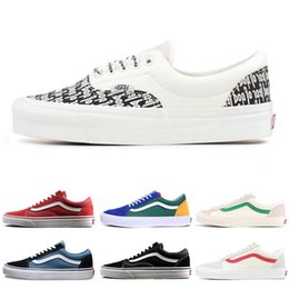 fc761981fbdddc Best discount YACHT CLUB Vans old skool FEAR OF GOD black white MARSHMALLOW 36  DX PRIMAR men women sneakers fashion skate casual shoes