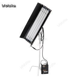 ضوء الفلورسنت 4 أقدام * 4 أنابيب أنبوب مستقيم مصدر الضوء البارد مصباح درجة حرارة اللونين استوديو التصوير CD50 T10