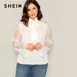 Women's Clothing Tireless Spring And Summer White Hollow Blouse Flowers Ruffles Lace Shirt Lace Shirt