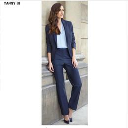 f7680398ca2 New Full Cotton Regular Pantalones Mujer Custom Made Women Suits Fashion 2  Pcs Of Lady Tuxedo Casual Office Blazers Jacket+pants