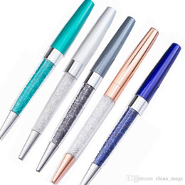 $enCountryForm.capitalKeyWord Australia - Ballpoint Flow Oil Crystal Foil Metal Pen Cute Stationary Novelty pens for writing School Office accessories