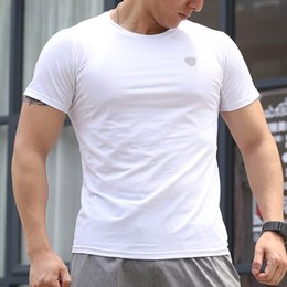 $enCountryForm.capitalKeyWord Australia - Trendy Outdoor White Running Shirt Sport Whole Fabric Super Breathable Dry Fit Short Sleeve Fitness Bodybuilding Workout Gym Tee Shirts