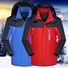 articles hair Australia - 2020 men with hair thickening winter new article ski-wear, reflective cotton-padded jacket rain wear to keep warm