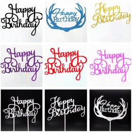 $enCountryForm.capitalKeyWord NZ - Happy Birthday Cake Topper Sweet 16 Party Decoration Wedding Favors And Gifts Boy Home Decoration Baking Accessories 50 Birthday