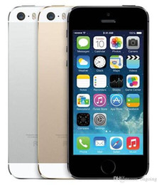 gprs gps camera UK - Unlocked Apple iPhone 5S 16GB   32GB   64GB ROM IOS phone White Black Gold GPS GPRS A7 IPS LTE Cell phone Iphone5s