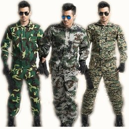 Military Camouflage Clothing NZ - Tactical Military Uniform Long Sleeve Camouflage Suit Military Combat-Proven Battle Jacket+pant Costumes Men's Clothing Sets C18122701