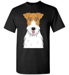 Chinese  Wire Fox Terrier Dog Cartoon T-Shirt Tee - Men Women Ladies Youth Kids Tank Long manufacturers