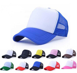 f590e572531 Children Kids Trucker Cap Adult Mesh Caps Blank Trucker Hats Snapback Hats  Adult Baseball Hats Peaked Hat 19 Colors
