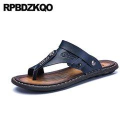 $enCountryForm.capitalKeyWord Australia - flip flop slides fashion plus size 46 mens sandals 2019 summer outdoor waterproof shoes slip on slippers blue flat large native
