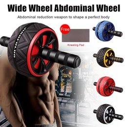 red hot roller UK - Roller No Noise Abdominal Wheel Ab Roller with Free Kneeling Mat For Exercise Fitness Equipment Accessories Body Building hot
