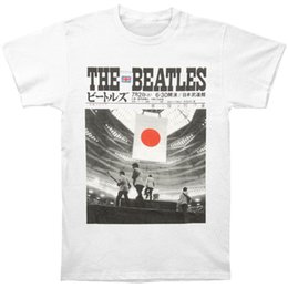 Beatles tee shirts online shopping - Beatles Men s Live At The Budokan T shirt White Rockabilia Print T shirt Men Short Sleeve TOP TEE Fashion Summer Top Tee