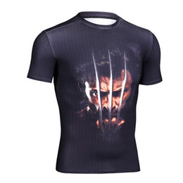 Superman batman t Shirt online shopping - Wolverine superman batman iron Man Cosplay Functional Short Sleeve T Shirt Breathable fabric