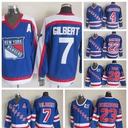 100% Embroidery Vintage  7 Rod Gilbert Jersey Men s Cheap New York Rangers  Rod Gilbert Hockey Jerseys Stitched Shirts A Patch 12f21a67c