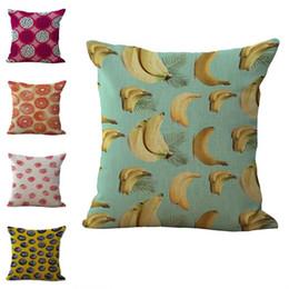 $enCountryForm.capitalKeyWord Australia - Colorful Fruit Print Pillow Case Cushion cover linen cotton Throw Square Pillowcase Cover Drop Ship