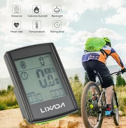 Bicycle Wireless Lcd Australia - Lixada Wireless Bicycle Computer Bike Odometer Speedometer LCD Display 3 in 1 Cycling Computer With Cadence Heart Rate Monitor