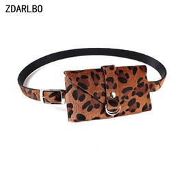 Wholesale Pillow Packs NZ - PU Bananka Fanny Pack Handy lmitation horse hair Women's Belt Waist Bag Female Belt Leopard Waist Pack High Quality Bags