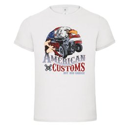 muscle cars NZ - american customs class hot rod racing muscle car pin up dtg mens t shirt tees mens Cotton T-shirt Round Neck man's