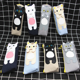 Stationery Australia - Hot Sale Cute Cat Women Cosmetic Bag Pencil Case Stationery Pen Pouch For Makeup