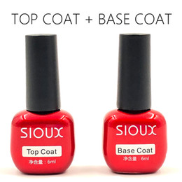 Long Lasting Coating Australia - gel varnish SIOUX Foundation UV Gel Polish Top Long Lasting Nail Primer Nail Art Semi Permanent 6ml UV Top Coat Base Coat