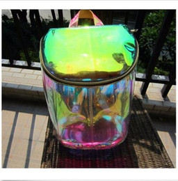 $enCountryForm.capitalKeyWord Australia - Kawaii Clothing Cute Harajuku Ropa Laser Bag Backpack Holographic Bolso Mochila