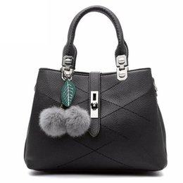 $enCountryForm.capitalKeyWord Australia - 2019 Women Bag Pu Leather Tote Brand Bag Ladies Hair Ball Handbag Lady Evening Bags Solid Female Messenger Bags Travel Dcr04