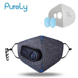 $enCountryForm.capitalKeyWord Australia - in Stock Xiaomi Purely Anti-Pollution Air Mask with PM2.5 550mAh Battreies Rechargeable Filter with Fan for Sport For Man Women