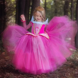 sleep clothes for kids Canada - Princess Girl Dress up Costume For Kids fantasia menina Halloween Party Dresses Children Clothing Fancy Sleeping Beauty Dress