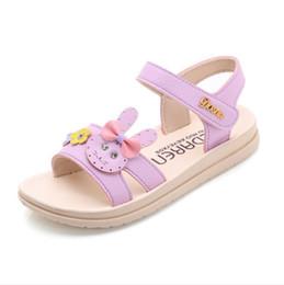 Baby Girl Cute Sandals Australia - Girls baby sandals summer 2019 new cute little rabbit princess shoes big boy non-slip girl beach shoes