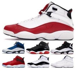 ivory ring men NZ - Six 6s 2019 Rings Basketball 6 Shoes Sneakers Jumpman Concord Bred White Ice Gym Red Confetti Space Jam Mens Man Classic Trainers Shoes