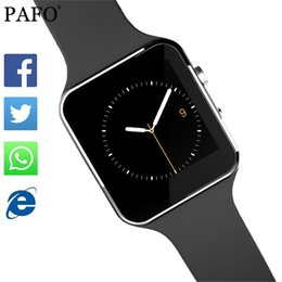 Facebook For Android NZ - Bluetooth Smart Watch X6 Sport Passometer Smartwatch with Camera Support SIM Card Whatsapp Facebook for Android Phone pk DZ09 Y1