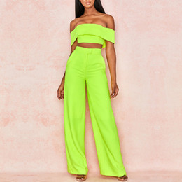 Wholesale casual evening outfits for sale – dress New Elegant Two Piece Sets Summer Women Green Sexy Suit Sets Bodycon Club Celebrity Evening Party Set Outfits